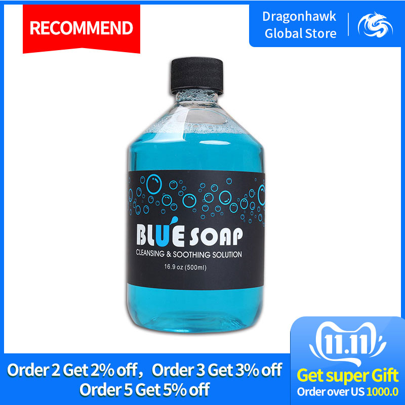 Us 8 0 12 Off New Arrivals Blue Soap Cleaning Soothing Solution Tattoo Studio Supply Tattoo Parts Supplies Hairsupplies Pictures Aliexpress