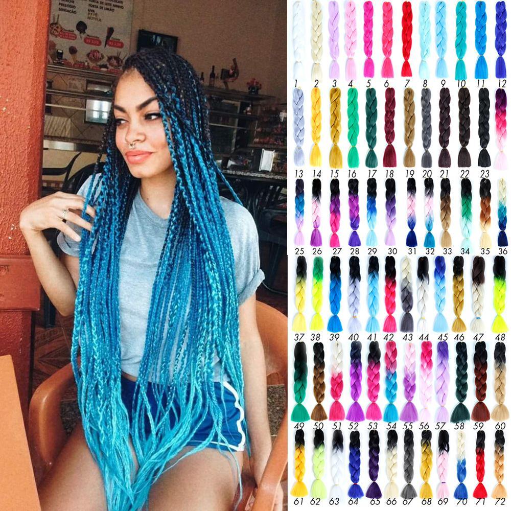 Trança sintética do cabelo de crochê loira cinza trança sintética acessórios para o cabelo longo ombre jumbo
