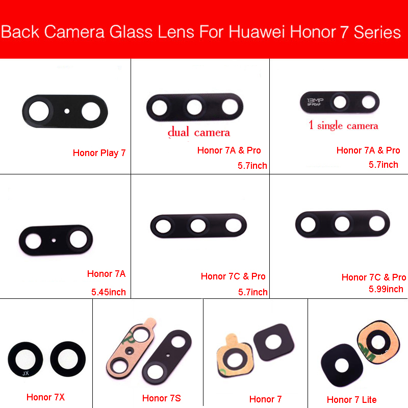 Back Camera Glass Lens For Huawei Honor Play 7 Lite 7S 7A 7C 7X 7A Pro 5.45