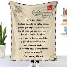 Flanelle jeter couverture lettre imprimé courtepointes Air Mail 3d imprimer garder au chaud canapé enfant couverture maison Textiles onirique famille cadeau