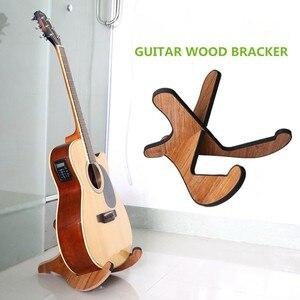Soporte de madera portátil para guitarra acústica clásica, soporte plegable para guitarra acústica Folk