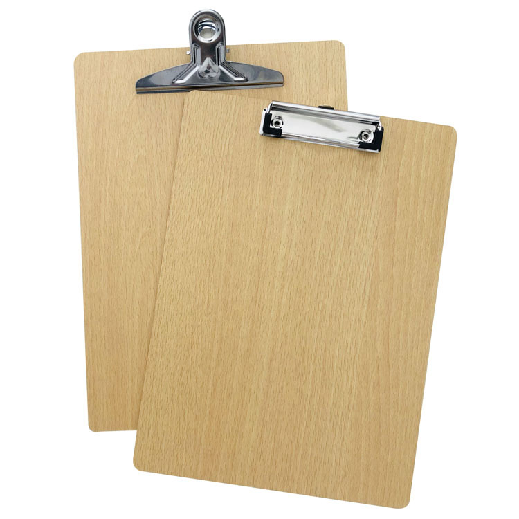 Office Supplies Thickened Wooden Hanging A4 Board Clamp, Folder Writing Board Clamp Flat Clamp