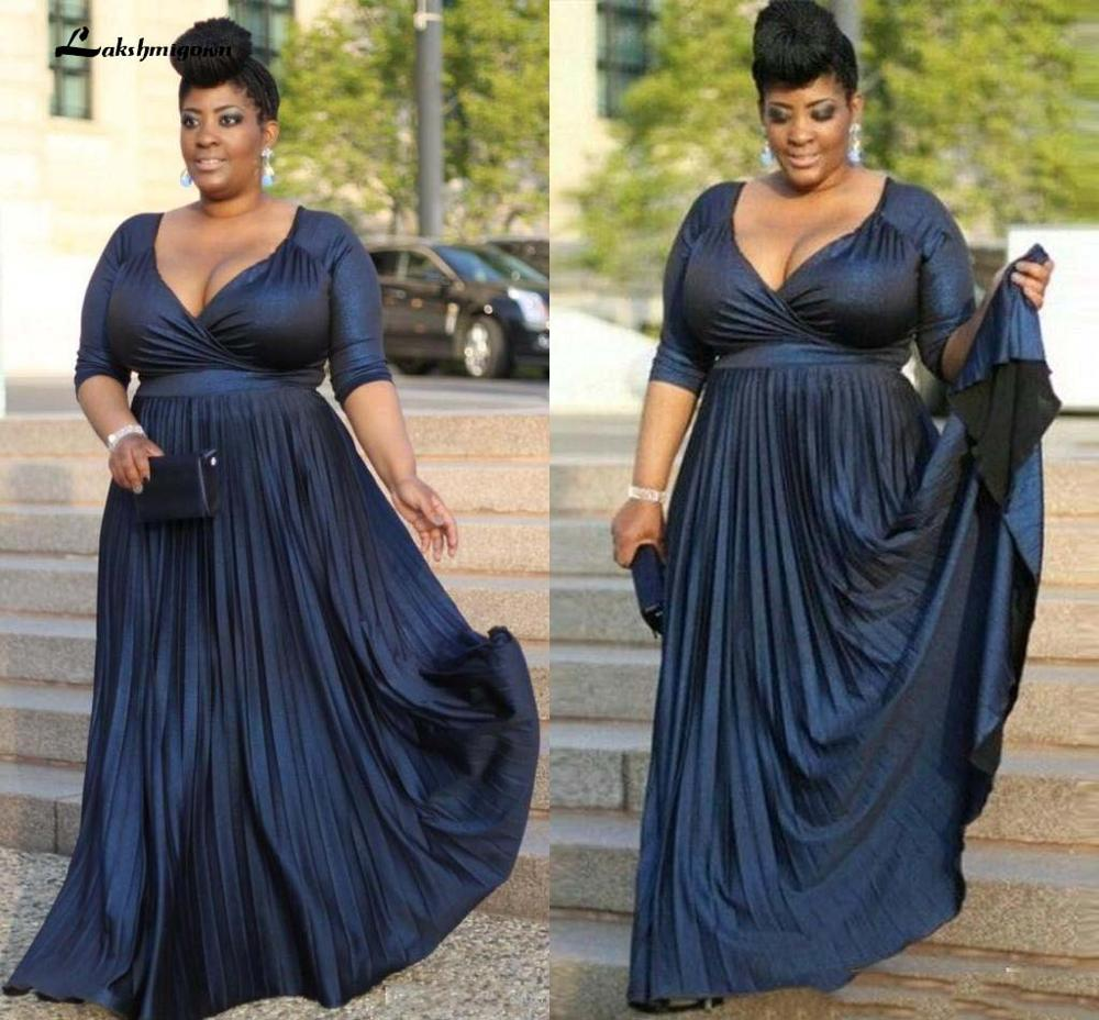 Plus Size Mother Of The Bridal Dresses Floor Length Ruffles Formal Wear Mother Dresses Formal Evening Gowns