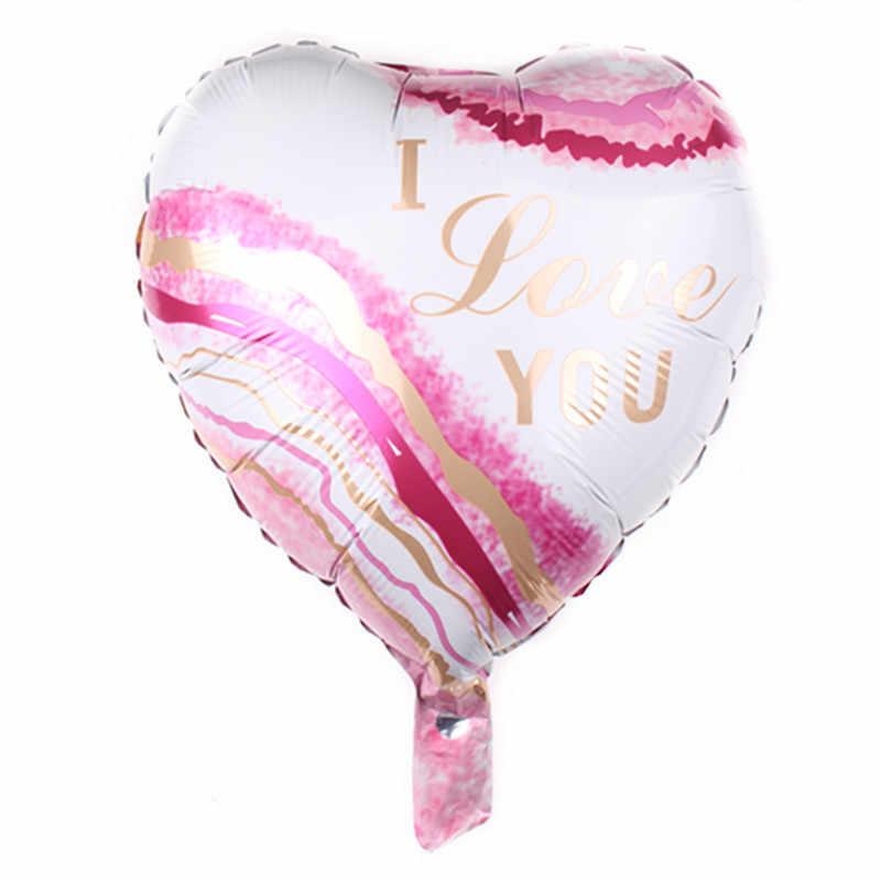 1 PC 18 นิ้วรูปหัวใจ I LOVE YOU บอลลูนฟอยล์หัวใจวันวาเลนไทน์ฮีเลียมบอลลูน Globos ตกแต่งพรรค