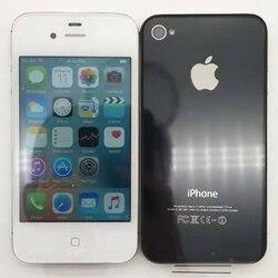 Original desbloqueado iphone 4S telefone 16 gb 32 gb 64 gb rom duplo núcleo wcdma 3g wifi gps 8mp câmera usado apple celular remodelado