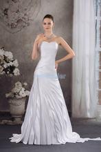 Бесплатная доставка 2014 Новый стиль белое свадебное платье