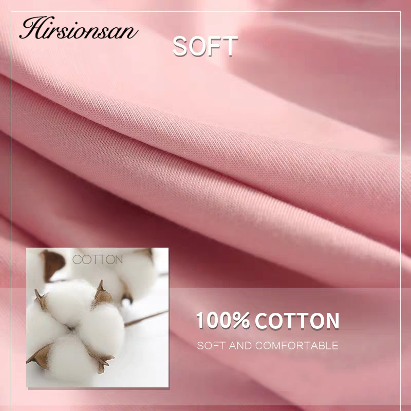 Hirsionsan Summer Cotton Sets Women Casual Two Pieces Short Sleeve T Shirts and High Waist Short Pants Solid Outfits Tracksuit 6