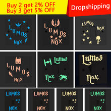 New Cartoon DIY Lumos nox Fluorescent Switch Sticker Glow in the Dark star Wall Stickers For Kids Rooms decoration home decor