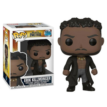 Funko Pop Black Panthers ERIK KILLMONGER #386 Vinyl Figure Dolls Toys Marvel Action Figure Model Toys Collections 1