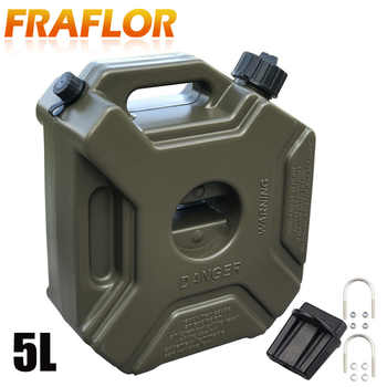 Green Black 5L Explosion-proof Antistatic Spare Plastic Barrel Fuel Tank Car Motorcycle Fuel Spare Oil Petrol Tanks Jerry Can