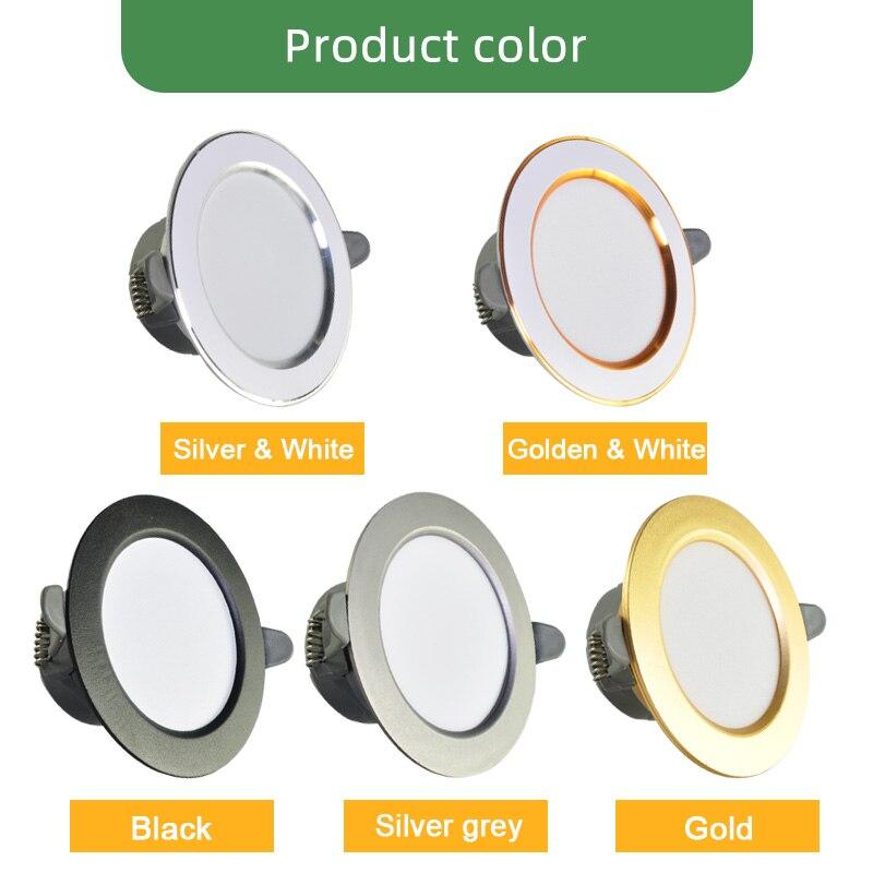 Image 4 - Kaguyahime 1/4pcs Downlight 3000k 4500K 6000K LED Spot Light 5w Indoor Recessed Lamp AC 220V LED Spotlight Gold Silver SurfaceLED Downlights   -