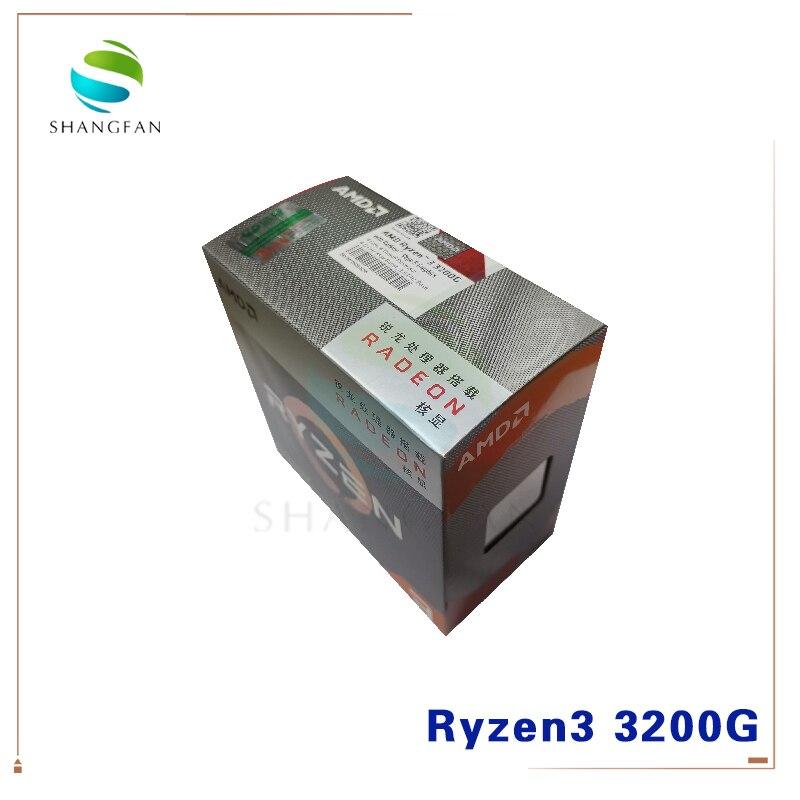 New AMD Ryzen 3 3200G R3 3200G 3.6 GHz Quad-Core Quad-Thread 65W CPU Processor L3=4M YD3400C5M4MFH Socket AM4 With Cooler Fan