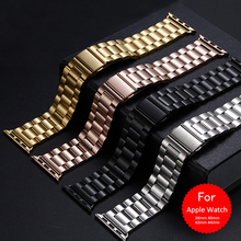 Luxe Classic Rvs Band Voor Apple Band Polsband Goud Voor Apple Horloge 38 Mm 42 Mm 1:1 Voor Apple iwatch 40 Mm 44 Mm Band