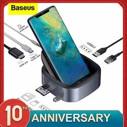 Baseus Tipo C HUB Docking Station Per Samsung S10 S9 Dex Station USB C A HDMI 3.5 millimetri Martinetti Dock adattatore Per Huawei P30 P20 Pro