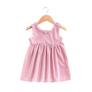 Models Europe And The United States Foreign Trade Children'S Clothing Girls Summer Solid Color Vest Skirt europe and the united states foreign trade new women s split color matching backless sexy bikini print swimsuit