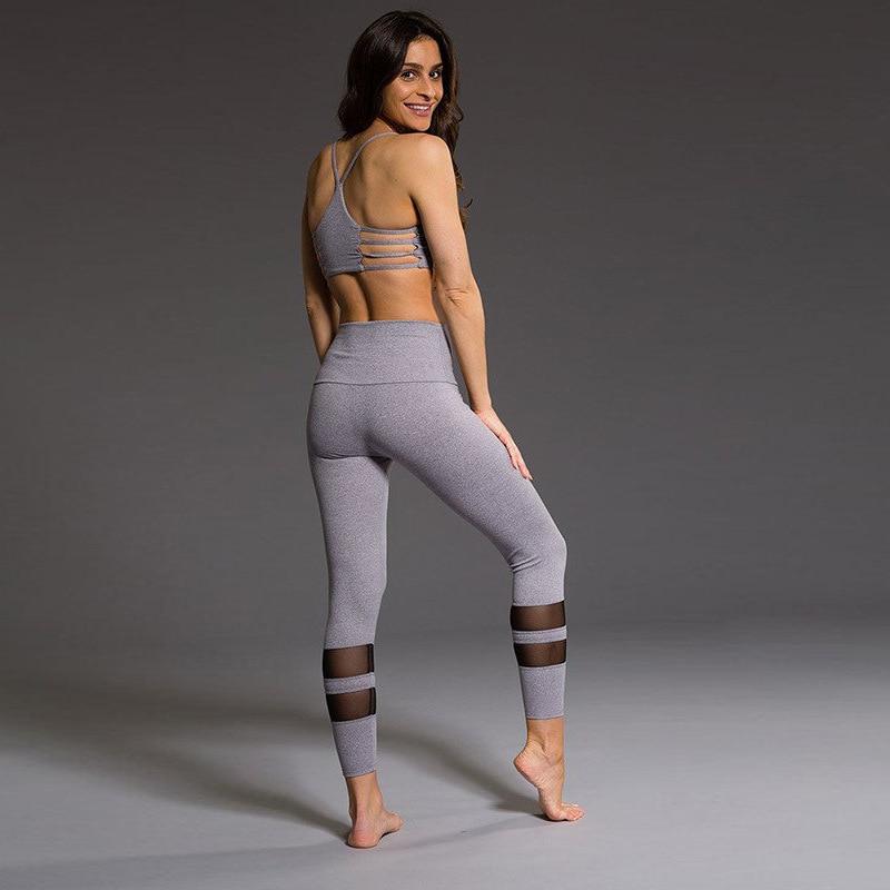 Sexy Mesh Patchwork Fitness Leggings Breathable Push Up Leggings Casual High Waist Pants Seamless Leggings Female Leggins