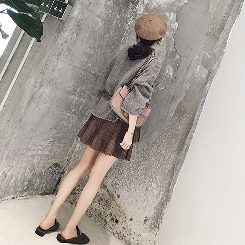 Autumn Clothing Women's 2018 New Style Korean-style Set Online Celebrity Style Charade Late Evening Breeze Fashion Explicit Eleg