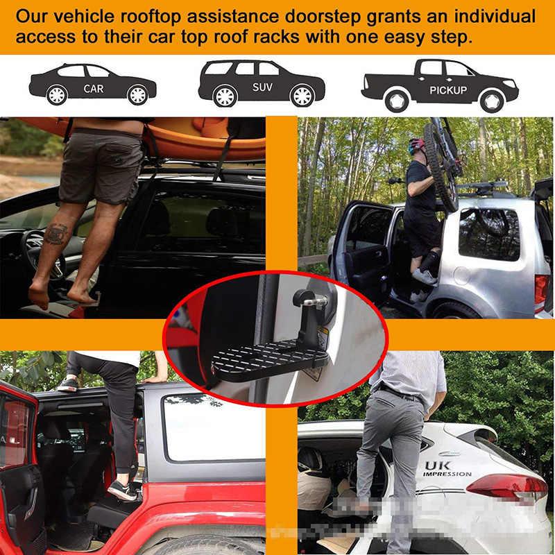 Крышу автомобиля багажник на крышу Педаль Помощь автомобиля легкий доступ дверь шаг подключен на педали автомобиля подножки для Джип внедорожник Грузовик