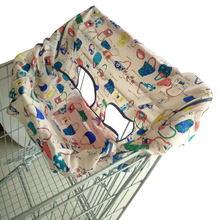 Supermarket Keep Clean Cart Cushion Travel Foldable Protection Dustproof Cover Portable Pad Elastic Shopping Kids Dining Chair