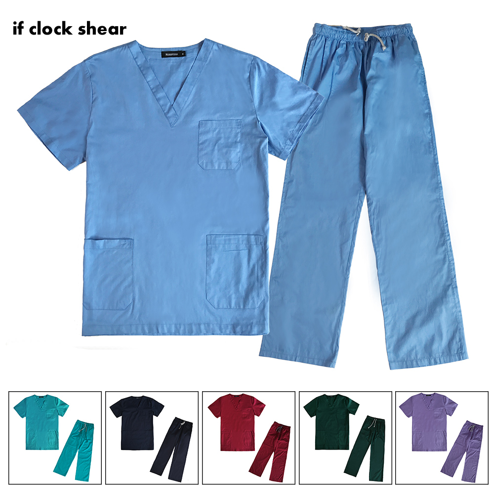 Medical Doctor Sets Pet Hospital Nurse Short-sleeved Uniform Suits Dental Clinic Beauty Salon Workwear Surgical Overalls Clothes