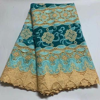 Elegant Party African Water Soluble Lace Fabric Cord Lace Fabric With Velvet For Lady Dress ZQW91(5yds/lot)