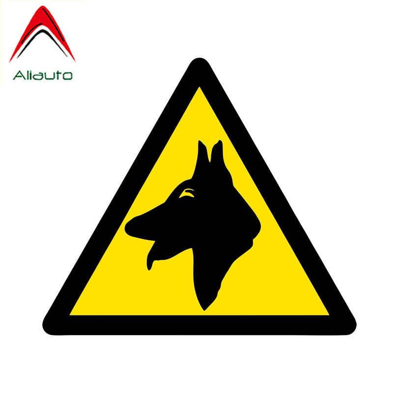 Aliauto avertissement voiture autocollant chien garde personnalité accessoires PVC décalque pour Opel Astra H Jdm Vw Polo Lada Granta, 13cm * 11cm