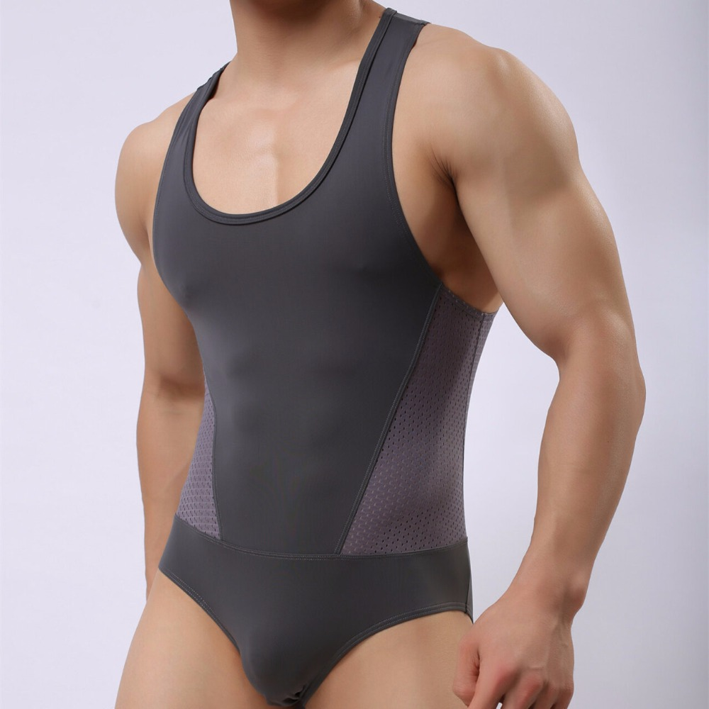 trikini <font><b>tanga</b></font> Men Solid Color <font><b>Bikini</b></font> Swimwear New <font><b>Sexy</b></font> One Piece Swimsuit For Men's Bathing Suit Sport Bodysuit Brave Person Boy image