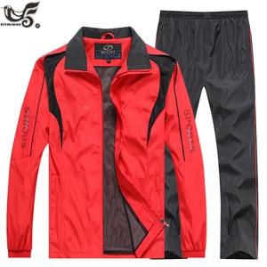 Image 5 - ماركة رياضية الرجال رياضية البلوز + السراويل 2 قطعة مجموعة الملابس outweartrain دورة بذلة رياضية ركض الرياضة تناسب الرجال