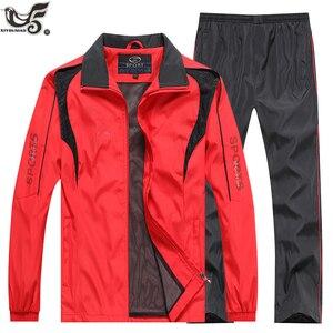 Image 5 - Marka eşofman erkek spor kazak + pantolon 2 adet giyim seti outwearTraining kursu eşofman joggers spor takım elbise erkekler