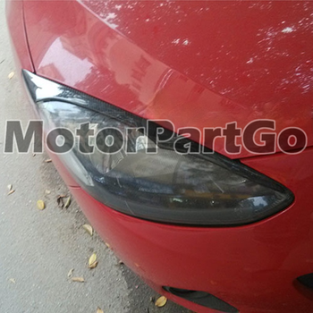 Real Crabon Fiber Head light Eyelid Eyebrow Cover Trim 1pair for Mazda 2  2007-2014 T190 1