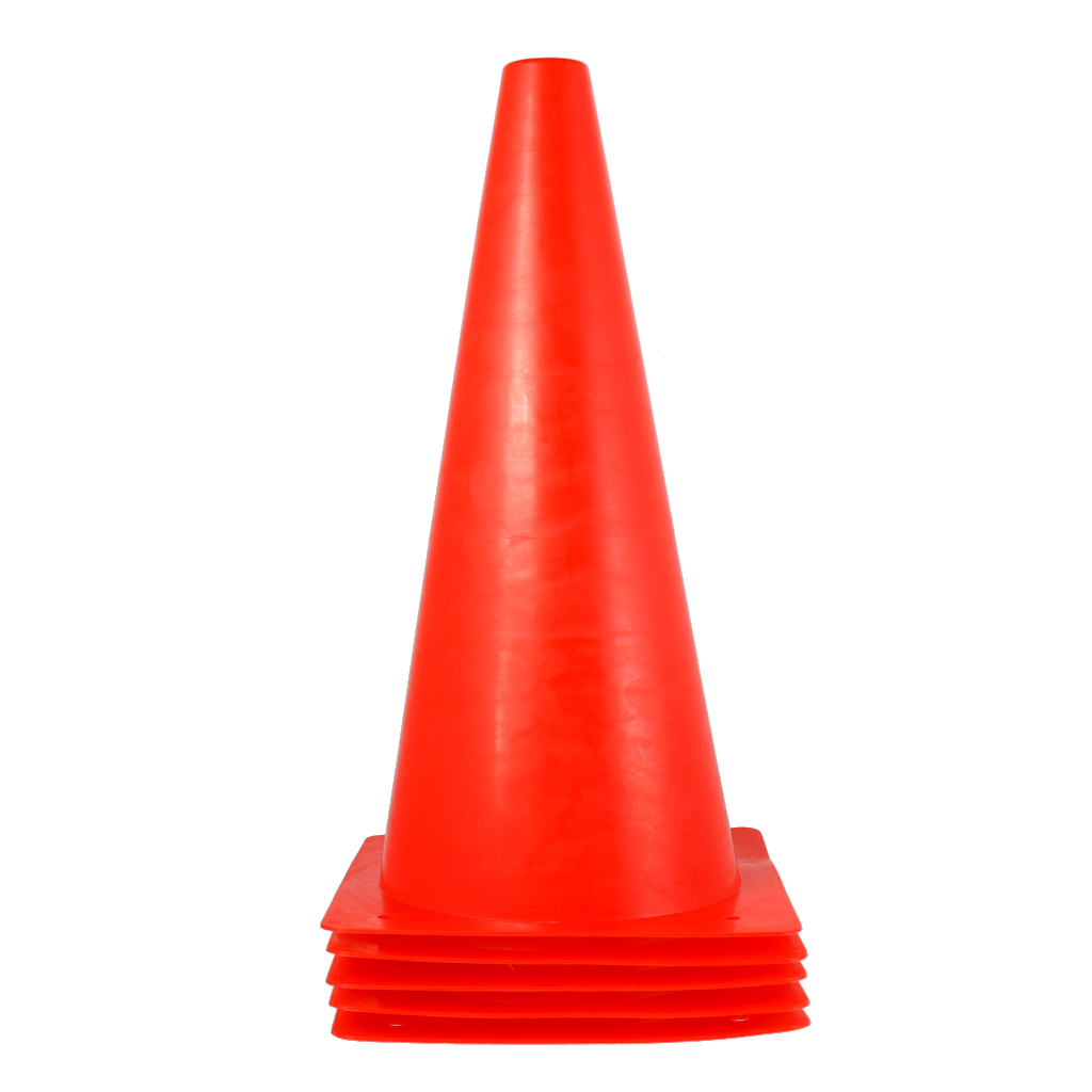 10 Pieces Trainning Cone Sport Traffic Soccer Football Field Marker Cones Agility Parking Barrier Road Obstacle Blue+Red