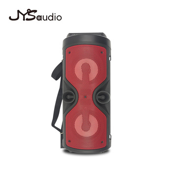 Outdoor Wireless Bluetooth Speaker Portable audio Column Subwoofer Stereo 1200mAh Battery Support FM Radio TF AUX USB 2
