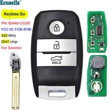3 pulsanti Keyless Go Smart Remote Key Fob FSK 433MHz ID47 Chip per KIA Sorento 2015 2016 2017 FCCID: FOB 4F06 P/N: 95440 C5100