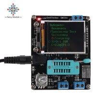 ЖК-дисплей GM328 Транзистор тестер Диод емкость ESR напряжение частотомер ШИМ квадратная волна генератор сигналов SMT паяльник метр
