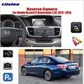 Задний вид автомобиля камера для Honda Accord 9 поколения 2012 ~ 2015 совместим с оригинальным экраном RCA разъем адаптера