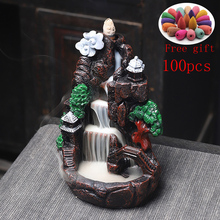 Zen Waterfall Incense Burner Multi style Mountains River Fountain Backflow Aroma Smoke Censer Holder Office Home Unique Crafts