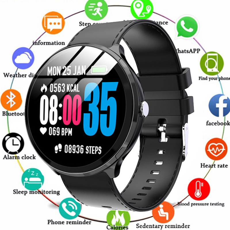 New V12 Women Smartwatch IP67 Waterproof Health Sport Heart Rate Bluetooth Message Remind Smart watch Men For IOS Android PK V11