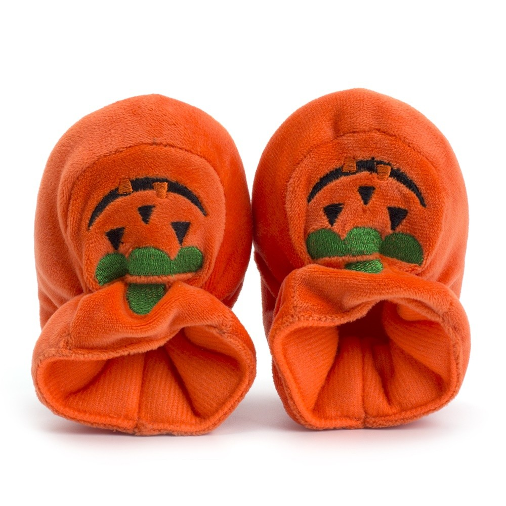 Baby Male Baby Girl Halloween Pumpkin Suede Soft Bottom Toddler Shoes Baby Shoes Baby Shoes, Not Tied