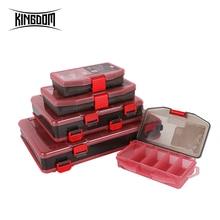 Kingdom приманка коробка для хранения рыболовных снастей PP материал Samll& средний размер большой емкости прочный Чехол для приманки