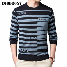 COODRONY Brand Sweater Men Casual Fashion Striped O-Neck Pullover Men Clothes Spring Autumn Knitted Soft Cotton Pull Homme C1036