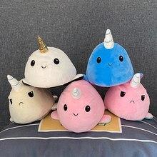 Flip polvo pelúcia brinquedo de pelúcia criaturas aquáticas macio dupla face irritado feliz triste boneca crianças meninas