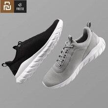 Youpin freetie tênis esportivo masculino, sapatos de malha elásticos e leves, com tecido respirável, refrescante, para corrida