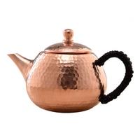 Norte de cobre indústria cobre puro manual cobre pote infusão chá chaleira kungfu online bule presente conjunto chá viagem conjunto chá