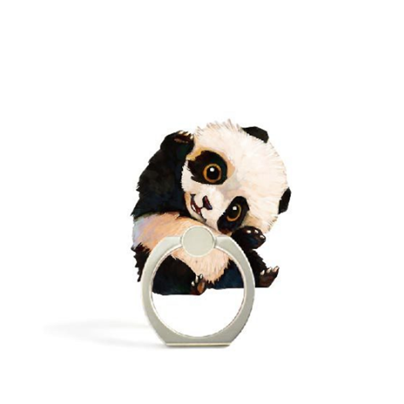 Animal Penguin Phone Stand Holder Zoo Panda Finger Ring Cute Dod Pig Cat Mobile Phone Holder Stand For IPhone Huawei All Phone