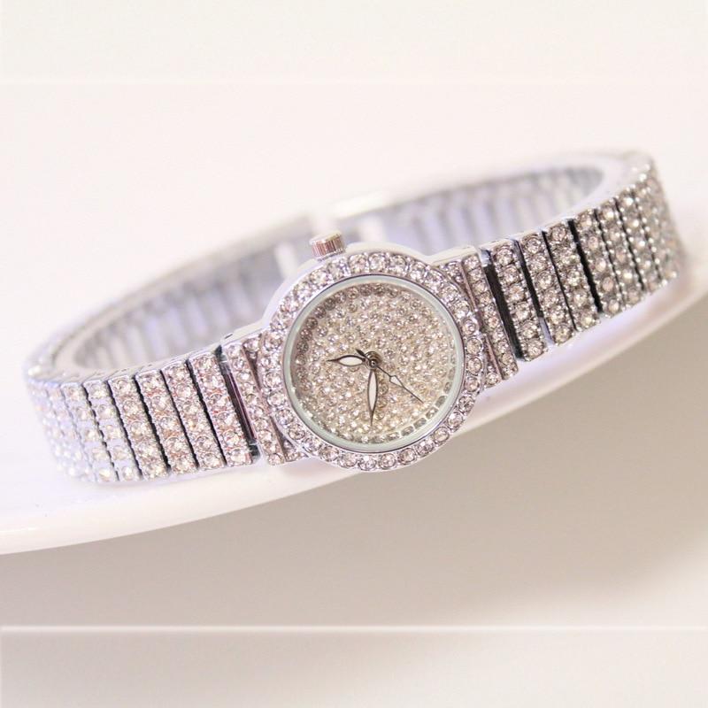 Bs Bee Sister Diamond Women Watches Luxury Brand Small Dial Female Rose Gold Watches Ladies Stainless Steel Lock Bayan Kol Saati 5