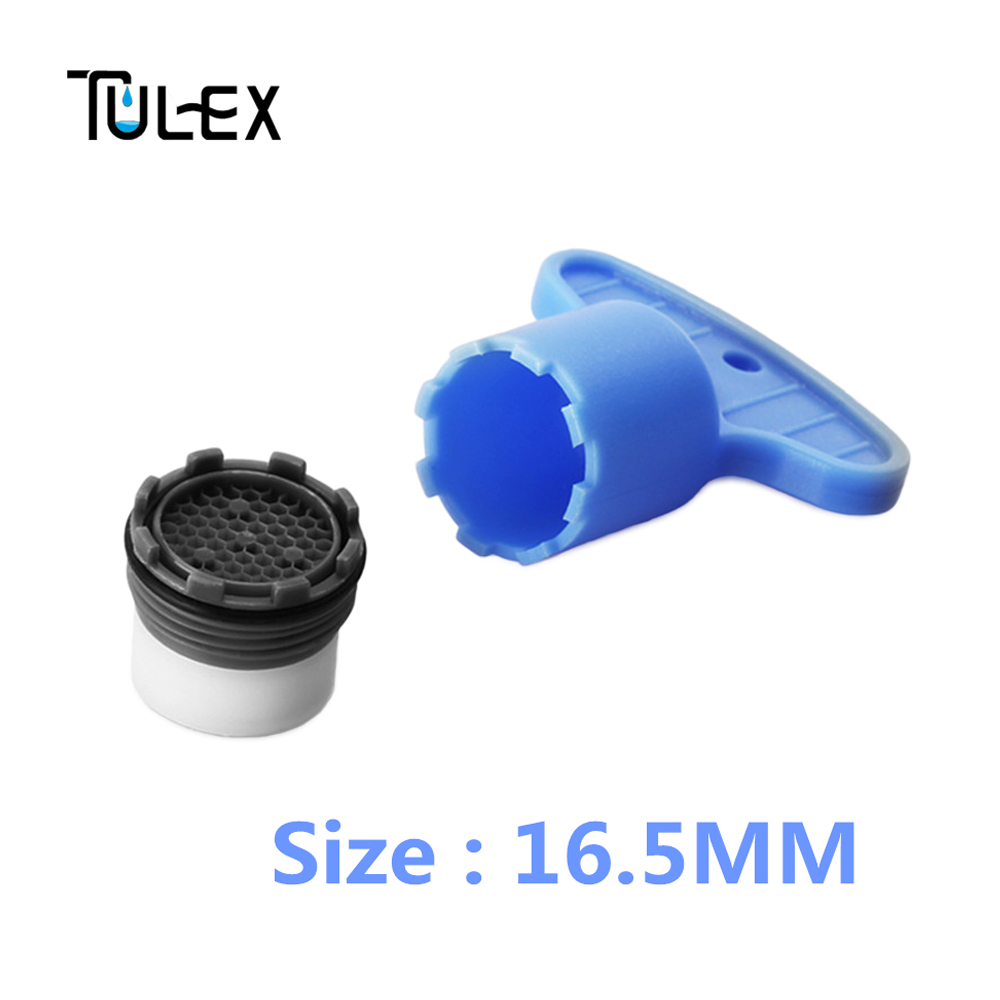 TULEX Faucet Aerator Hide-in Core 16.5 MM 6- 8L Spout Filter Bubbler With DIY Install Tool Set For Bathroom Faucet For Kitchen