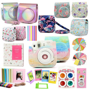 Fujifilm Instax Mini Case Bag Camera Accessories Kit Photo Album Lens Filters Stickers