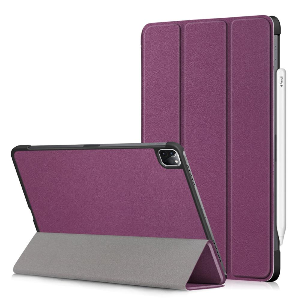 Purple Black PU Leather Foldable Stand Case for iPad Pro 11 2020 Case Cover for Apple iPad Pro