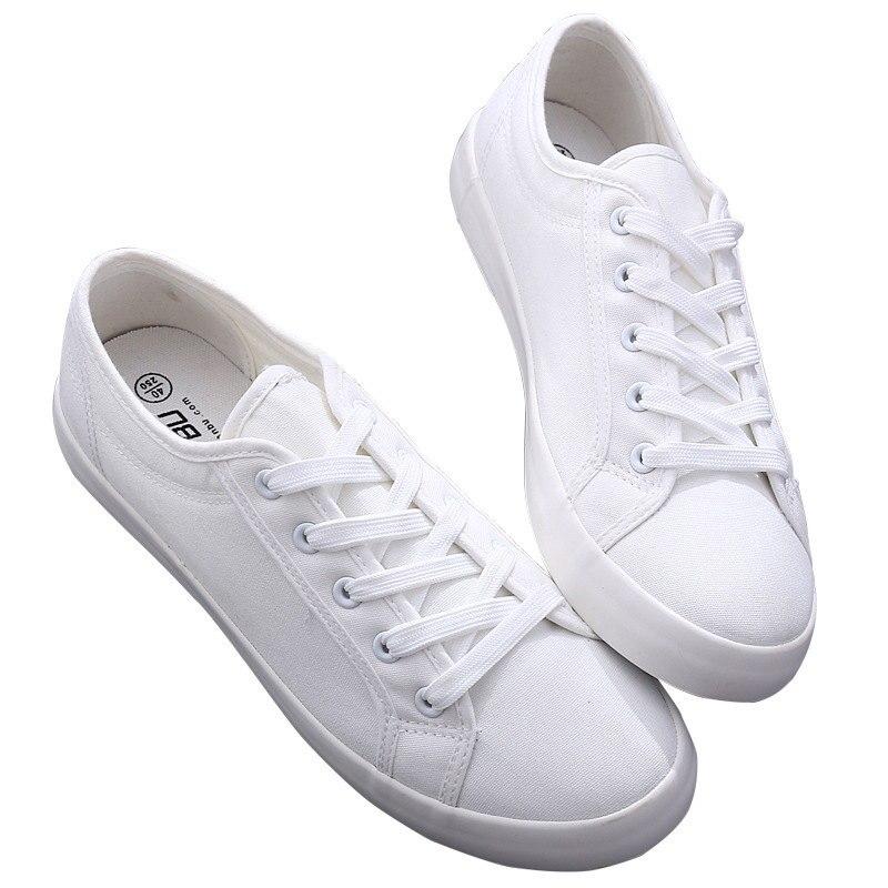 Купить кеды мужские повседневные модные холщовые кроссовки черные белые