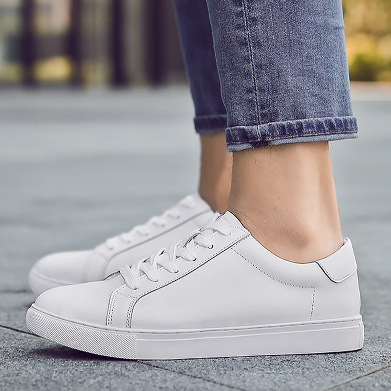 Women's Sneakers Genuine Leather White Sneakers Large Size Women Shoes Casual Female Sneakers Walking Sport Shoes